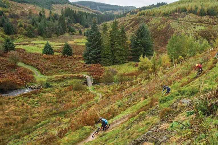 cycling the Galloway Hills