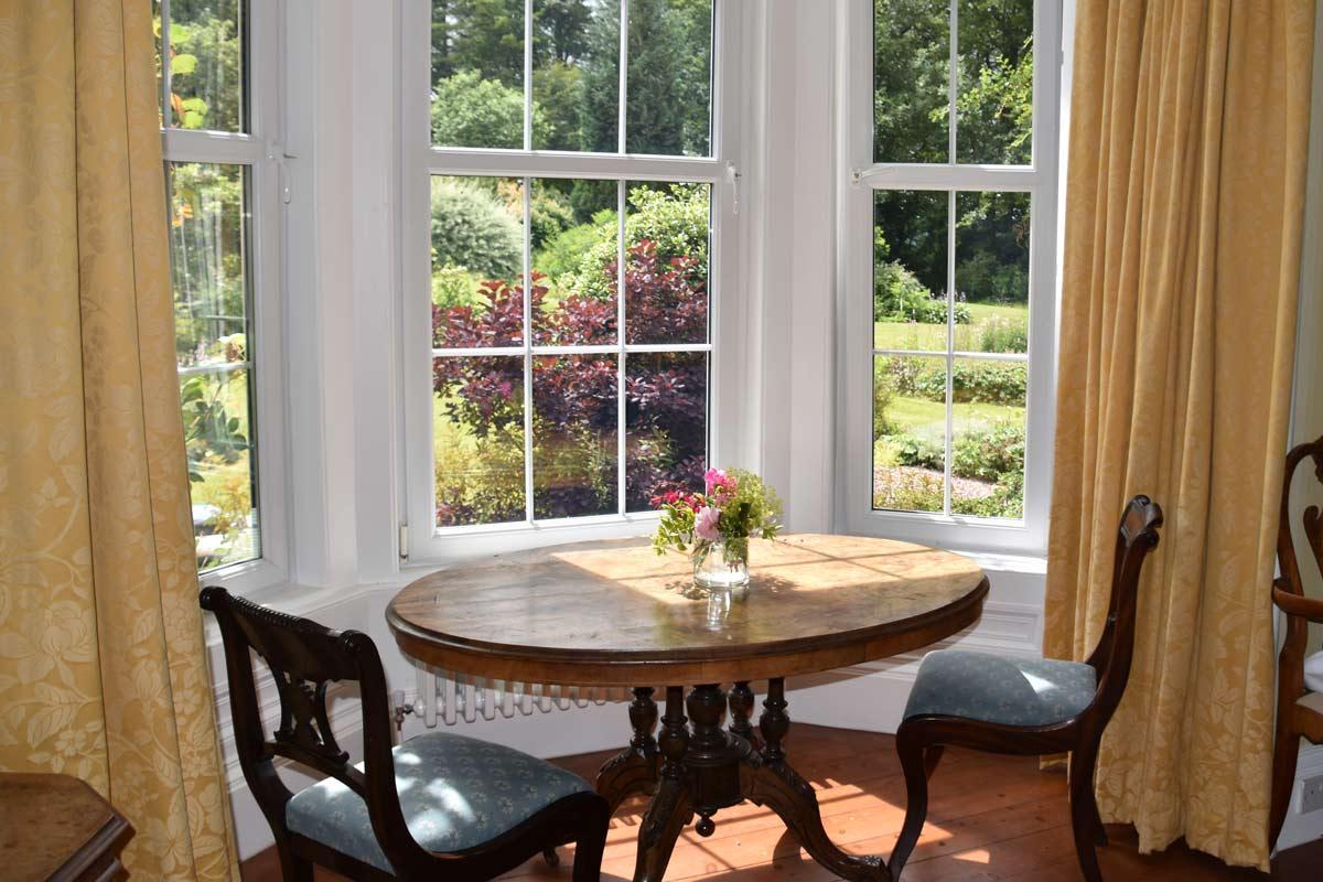 Sunny bay window