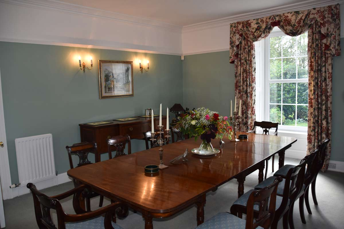 Our large dining room
